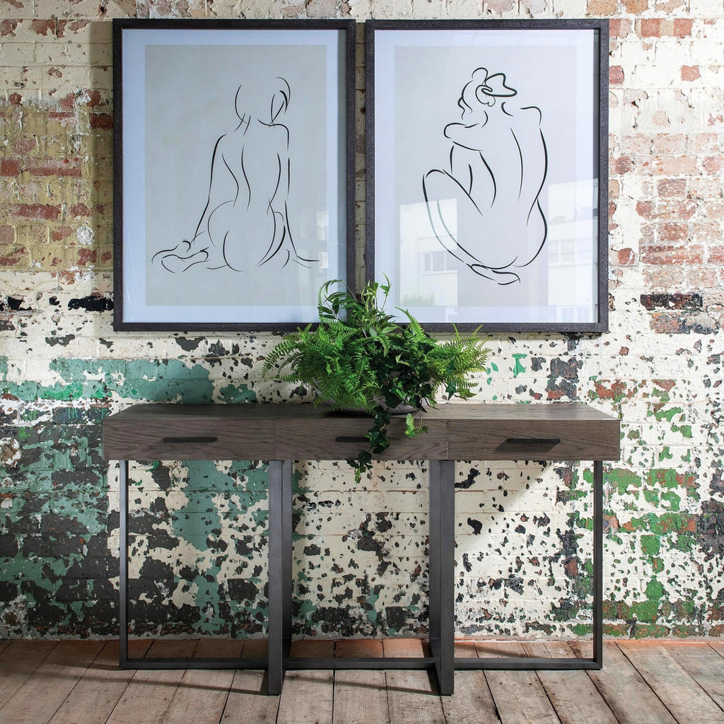 Backs in Black Set of Two Framed Prints 105cm | Annie Mo's