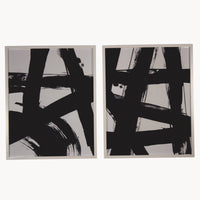 Rooky Set of Two Abstract Framed Wall Art Each Measures 75cm High | Annie Mo's