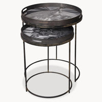 Antiqued Mirrored Nesting Tables 62cm | Annie Mo's