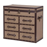 Large Linen Trunk With Drawers | Annie Mo's