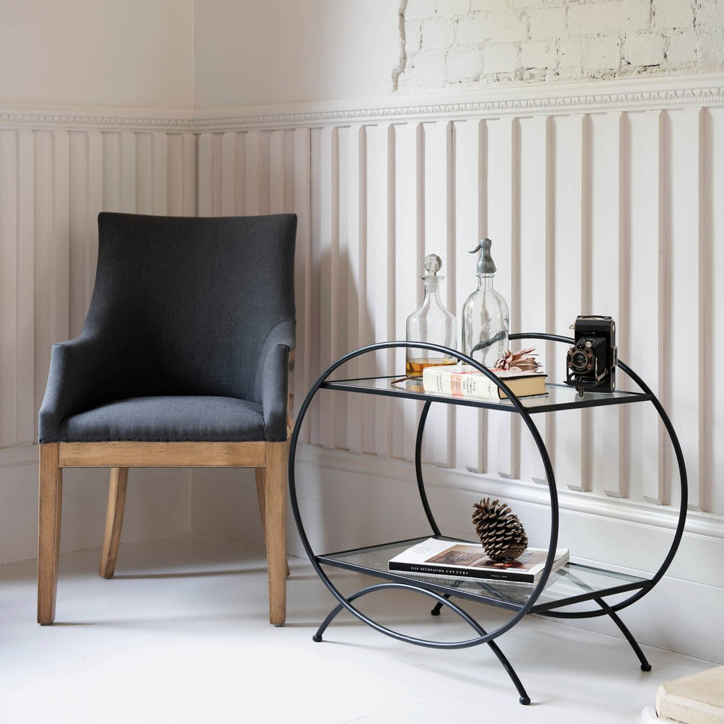 Portland Iron And Glass Side Table