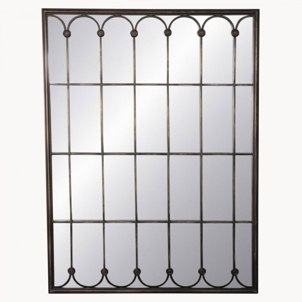 Iron Lattice Mirror 122cm | Annie Mo's