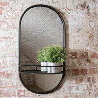 Iron Shelf Mirror 76cm | Annie Mo's