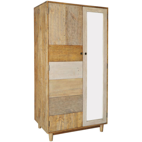 Crieff Reclaimed Pine Double Wardrobe | Annie Mo's