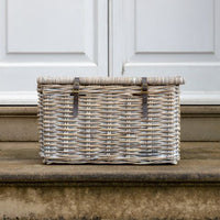Whitewash Kubu Basket | Annie Mo's
