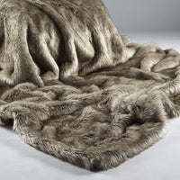 Animal Faux Fur Throw - Siberian Wolf | Annie Mo's