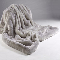 Faux Fur Throw  - Silver Alaska Fox