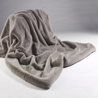 Plain Faux Fur Throw  - Soft Grey | Annie Mo's