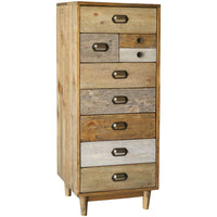 Crieff Reclaimed Pine Tall Wellington Chest | Annie Mo's