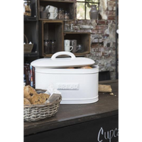 White Ceramic Oval Bread Bin | Annie Mo's