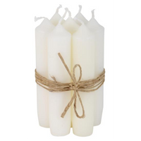 Short White Dinner Candle 11cm | Annie Mo's