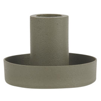 Dusty Green Taper Candle Holder - Metal | Annie Mo's