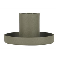 Dusty Green Dinner Candle Holder - Metal