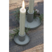 Dusty Green Dinner Candle Holder - Metal | Annie Mo's
