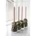 Dusky Pink Taper Candle 20cm