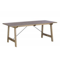 Malta Reclaimed Wood Fixed Top Dining Tables | Annie Mo's
