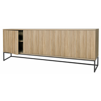 Timo Four Door Sideboard with Slatted Front 90cm High