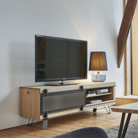 Elements TV Units with Metal Sliding Door | Annie Mo's