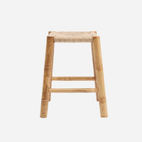 Natural Seagrass and Bamboo Occasional Stool | Annie Mo's