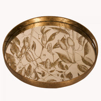 Round Foliage Mirrored Tray 46cm | Annie Mo's