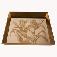 Square Botanical Foliage Mirrored Tray 48cm | Annie Mo's