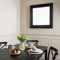 Square Black Beveled Mirror 107cm