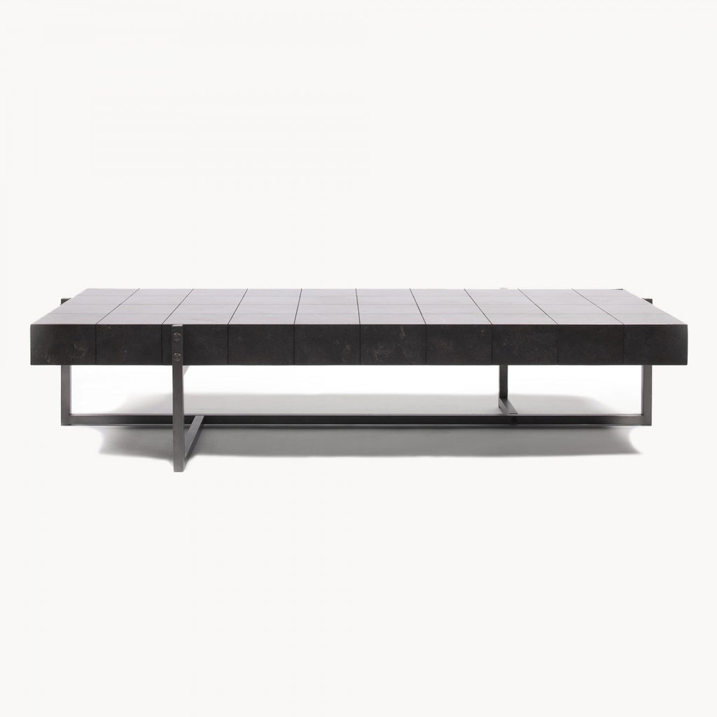 Titanium and Polished Bluestone Coffee Table 165cm | Annie Mo's
