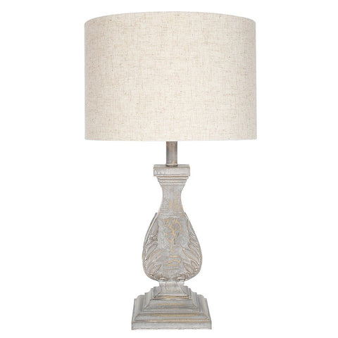 Table Lamp Ingrid Antique Grey with Shade | Annie Mo's