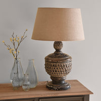 Antique Black Table Lamp with Shade 48cm