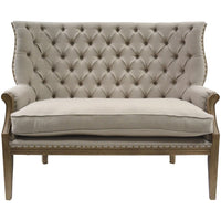 Love Seat Swedish Design Taupe Upholstery | Annie Mo's