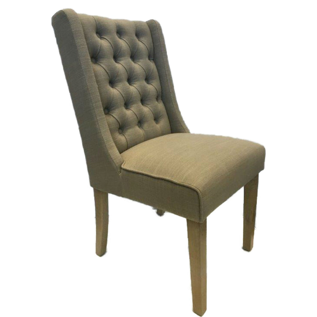 Lux Retro Fabric Dining Chairs - Almond | Annie Mo's