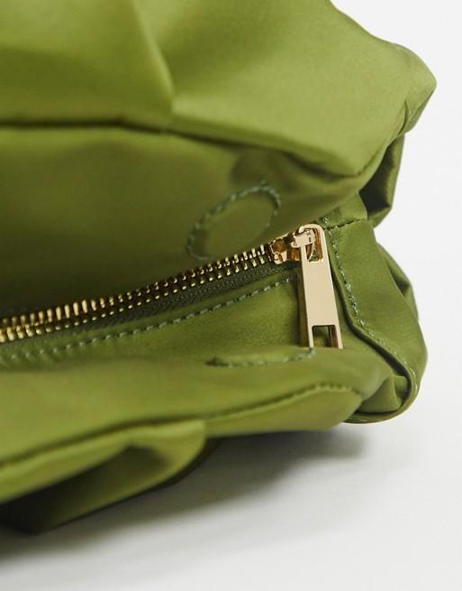 Ruched Clutch Bag