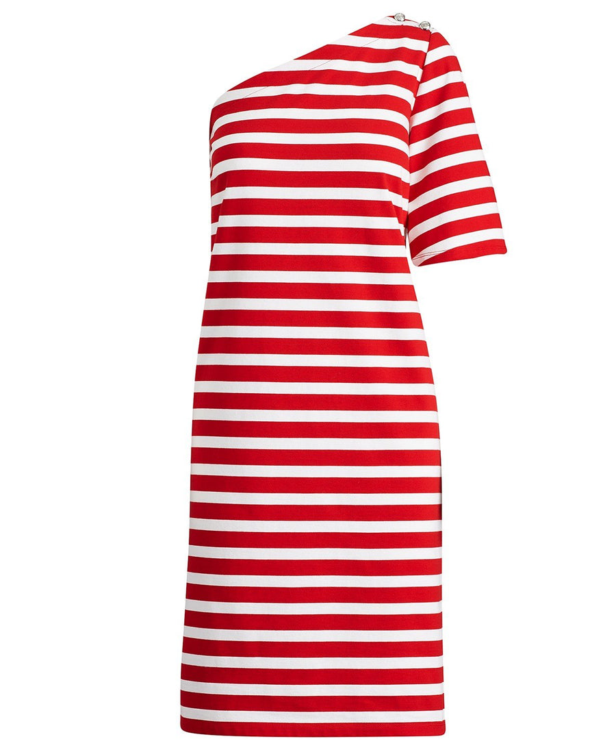 Marine Striped Cotton Dress
