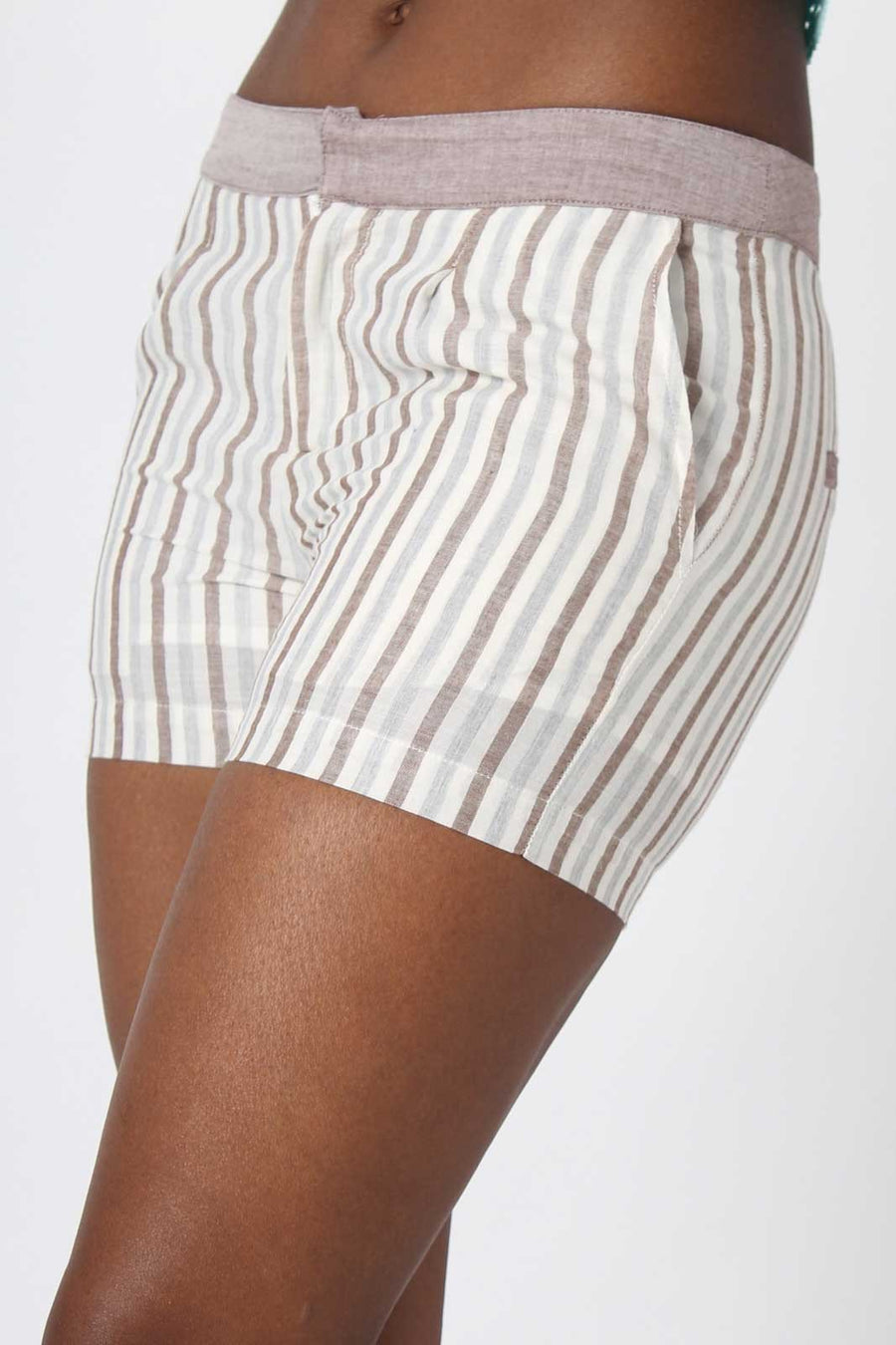 Champagne Summer Striped Shorts