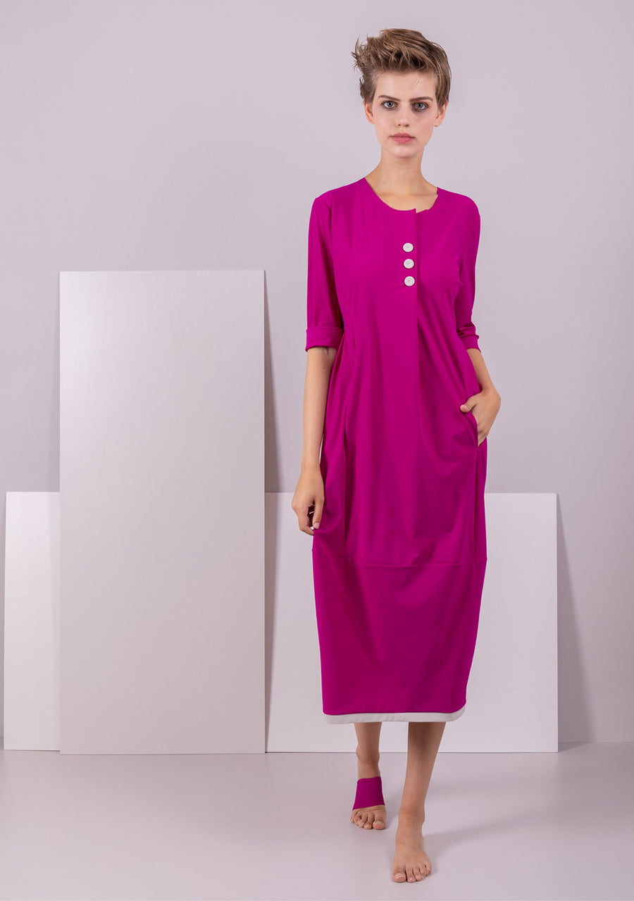 Fabulous Fuschia Midi Dress