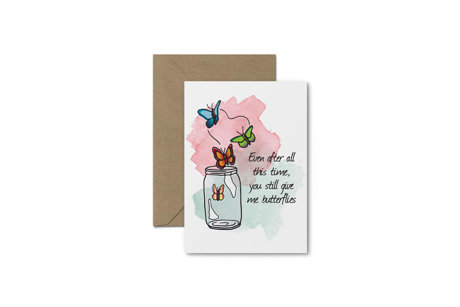 You Give Me Butterflies! Valentine's Day Card
