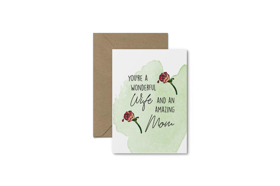 You're A Wonderful Wife! Mother's Day Card