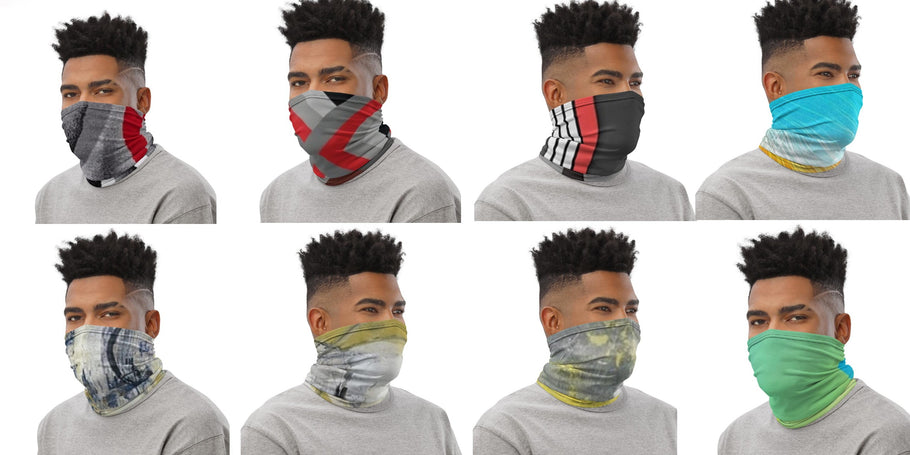 "Abstract ""Clothing 2 match your kicks"" ! The  Face mask Neck Gaiter to fit your Jordans."