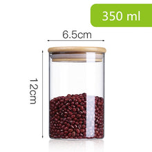 Load image into Gallery viewer, Glass Jar With Bamboo Lid Food Candy Storage Bottles Tea Container Cup Sealing Violetta Mason Jars Kitchen Accessories