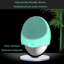 Load image into Gallery viewer, Silicone ultrasonic face cleaning Brush Wireless Charging Cleansing Instrument Electric Beauty Instrument face cleansing brush