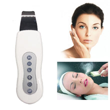 Load image into Gallery viewer, Rechargeable Ultrasonic Face Skin Shrubber Spatula For Blackhead Acne Removal Peeling Machine Face Exfoliator Deeply Clean Skin