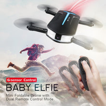 Load image into Gallery viewer, JJRC BABY ELFIE RC Selfie Drone with HD FPV Quadcopter Mini Pocket Foldable RC Drones Helicopter  Upgraded H37 VS H36 H31 H37