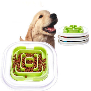 Pet Maze Bowl for Developing Healthy Diet Dogs Plastic Food Slowing Eating Speed Feeding Bowl