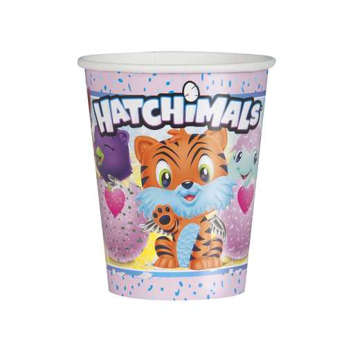 Hatchimals 9 oz Paper Cups [8 Per Pack]