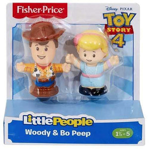 Fisher Price Toy Story 4 Little People Woody & Bo Peep Figure 2-Pack