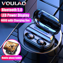 Load image into Gallery viewer, VOULAO Bluetooth 5.0 Earphone Wireless Headphons Sport Handsfree Earbuds 9D Stereo Waterproof Headset With 4000mAh Power Bank
