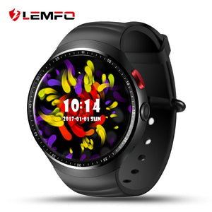 LEMFO LES1 Smart Watch Android 5.1 Wrist Phone MTK6580 1GB + 16GB Heart Rate Monitor with 2.0 MP Camera For Men Women