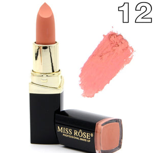 Matte Lipstick Lot Cosmetic Waterproof Long Lasting Pigment Velvet Miss Rose Brand Sexy Red Lip Matte Nude Lipstick