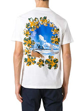 Load image into Gallery viewer, Prada Men's White Cotton Jersey Postcard Surf Print Crew Neck T-Shirt, White, XL