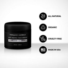 Load image into Gallery viewer, Anti Aging Face Cream for Men - Anti Wrinkle Face Moisturizer Natural & Organic, 4 oz, Scented